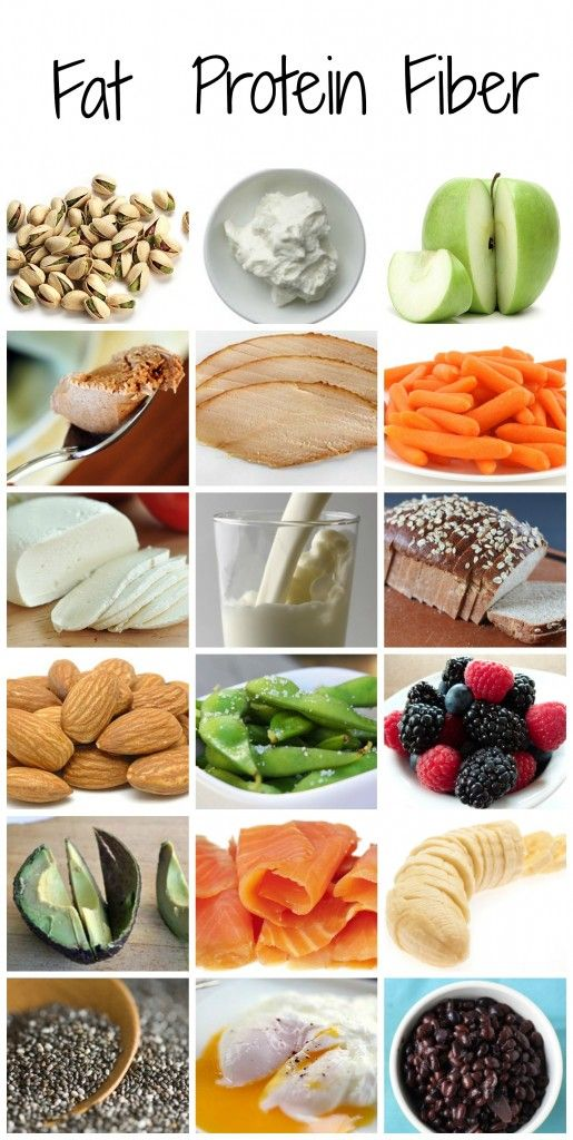 Snack combinations: combine fat, protein and fiber for a healthy snack