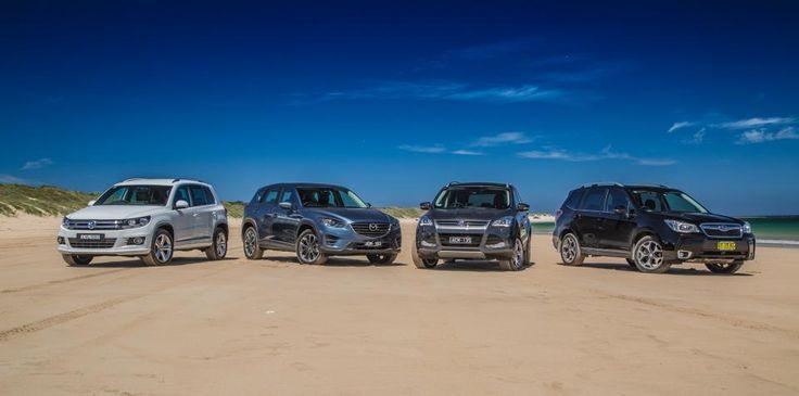 Medium SUV Comparison : Ford Kuga v Mazda CX-5 v Subaru Forester v Volkswagen Tiguan
