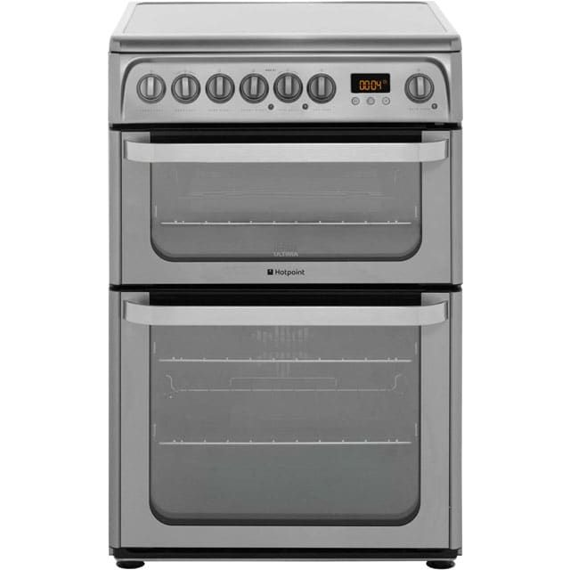 £487   Hotpoint Ultima HUE61XS Electric Cooker with Ceramic Hob - Stainless Steel