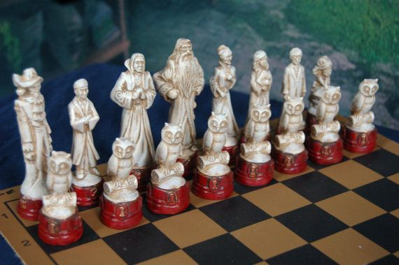 Harry Potter Chess Set, Customisable Colours (Pieces Only)