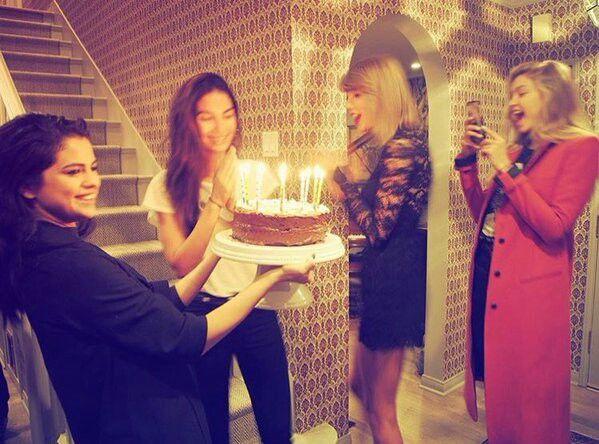Celebrating Lily Aldridge's birthday with TaylorSwift & Gigi Hadid