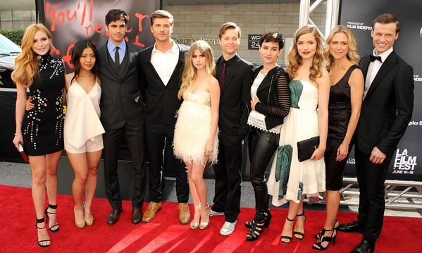 The Cast; Bella Thorne(Nina Patterson), Brianne Tju(Riley Marra), Tom Maden(Jake Fitzgerald), Amadeus Serafini(Kieran Wilcox), Carlson Young(Brooke Maddox), John Karna(Noah Foster), Bex Taylor-Klaus(Audrey Jensen), Willa Fitzgerald(Emma Duval), Tracy Middendorf(Maggie Duval), and Connor Weil(Will Belmont)