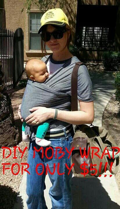 DIY Baby Moby Wrap for $5!!!