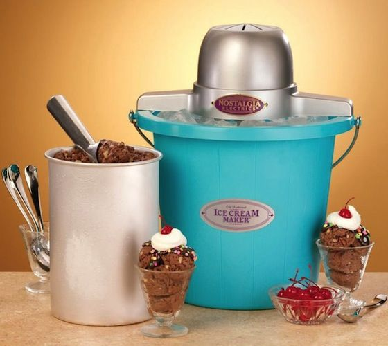 Nostalgia Electrics Ice Cream Maker / The Old Fashioned Ice Cream Maker provides a homemade ice cream experience with modern convenience. http://thegadgetflow.com/portfolio/nostalgia-electrics-ice-cream-maker/