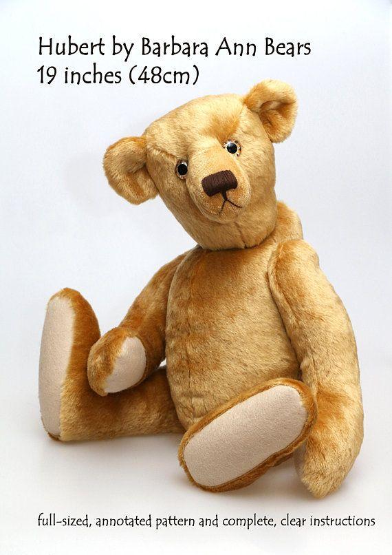 Mejores 19 imágenes de Teddy Bear Sewing Patterns en Pinterest ...
