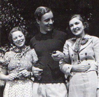 tilly losch | Tilly Losch, Tom Mitford, and Dorothy Paley (later Hirshon).
