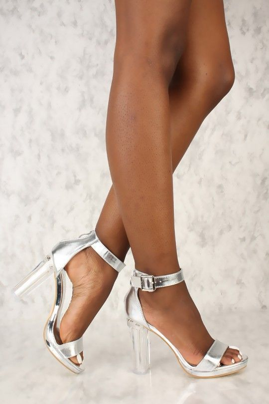 e3a1503bb25 Doll up any outfit with these sexy single sole chunky high heels! Weather  you plan