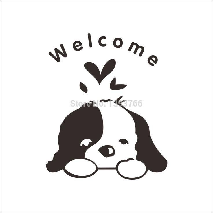 Welcome-Kids-Room-Dogs-Door-Stickers-Funny-Toilet-Bathroom-Wall-Stricker-Home-Decoration-decals-Wallpaper.jpg (1000×1000)
