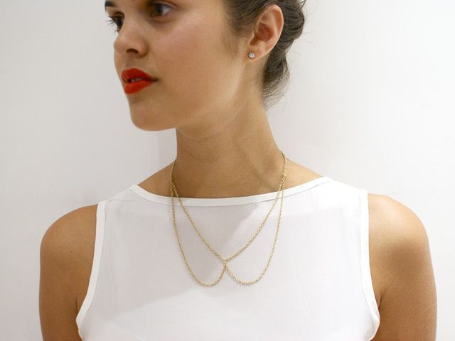 DIY Chain Collar Necklace by apair-andaspare