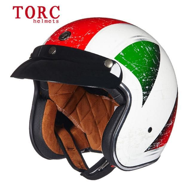 Motorcycle Helmets Vintage Motocross 3 4 Face Retro 33 Choices
