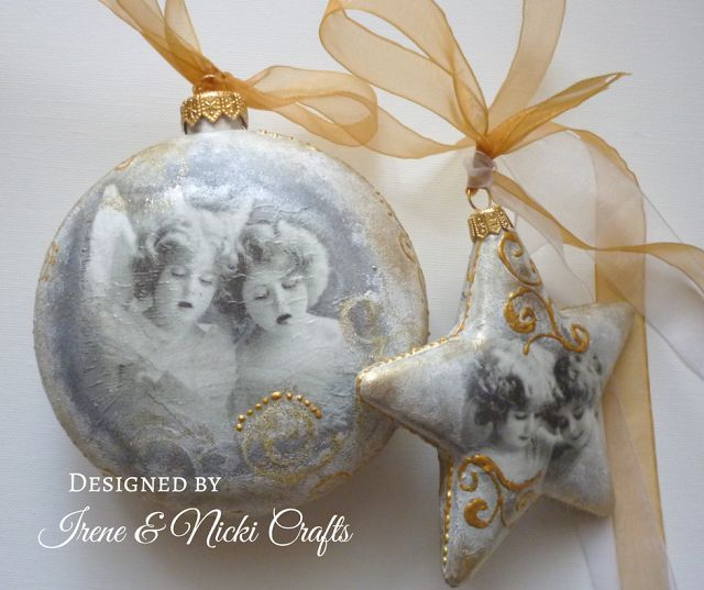 .:          Decoupaged Christmas Gift Ornaments      ...