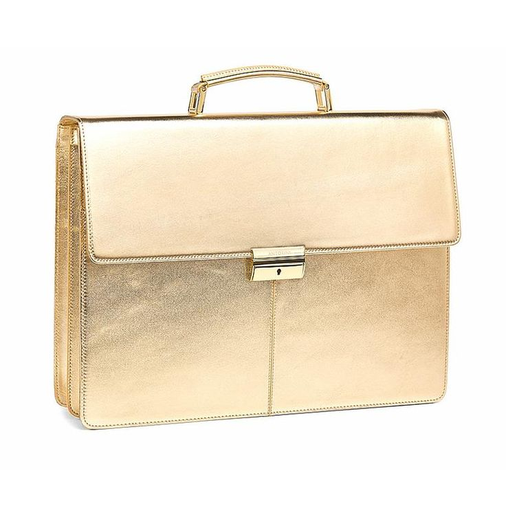 Limited Edition: Executive Leather Briefcase, Gold