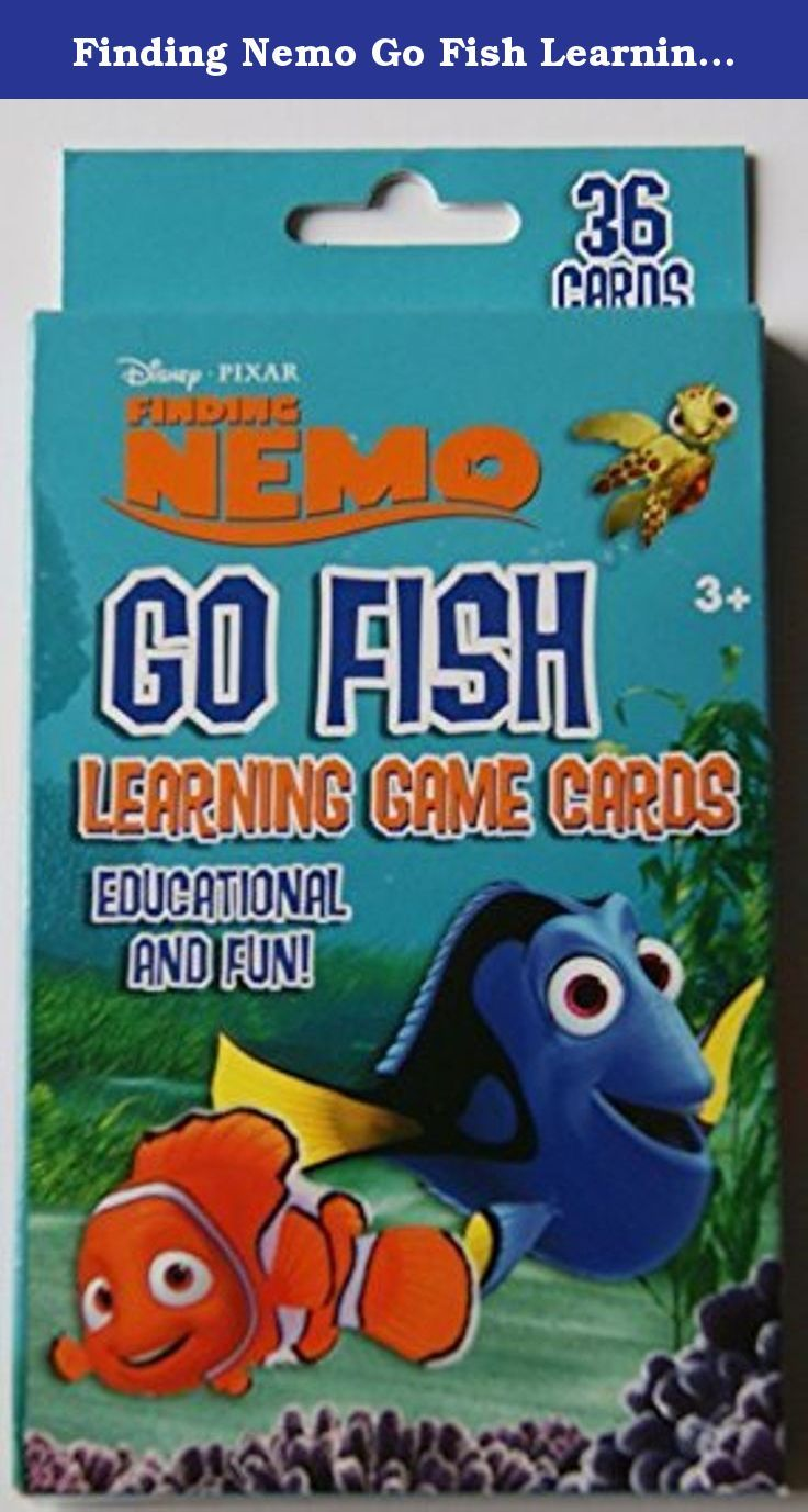 Finding nemo go fish learning game cards 36 cards go