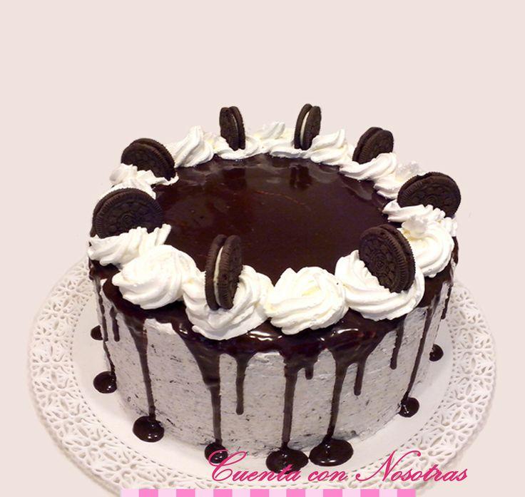 Torta oreo, Oreo Cake, Torta crema, Drip Cake, Cuenta con Nosotras