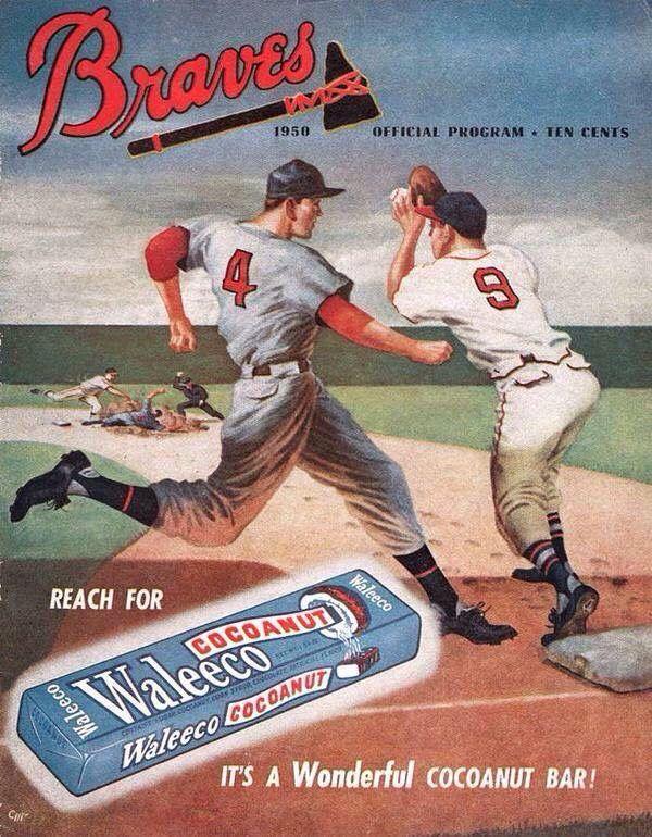 1950 Boston Braves Baseball Program Sponsored by Waleeco ...