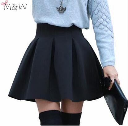 Cheap skater skirt, Buy Quality skirts womens directly from China skirt styles Suppliers: High Waist Women Skater Skirt 2016 Spring AutumnJoker Black Wine Red Purple Skirts Womens Saia Korean Style Ball Gown Faldas