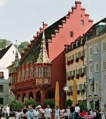 Freiberg, Germany! We ate in the town square and this was our exact view!