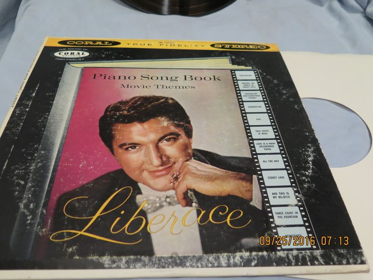 LIBERACE LP - PIANO SONG BOOK Movie Themes (1959)