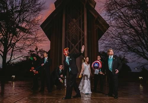 Today's cosplay feature may not *actually* be cosplay…but this fan's Avengers-themed #wedding picture deserves a spotlight! Good work, Adam and co.