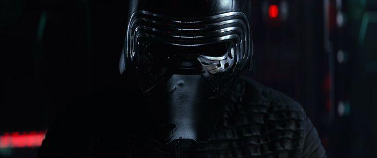 Kylo Ren avec son casque [Star Wars The Force Awakens Trailer]