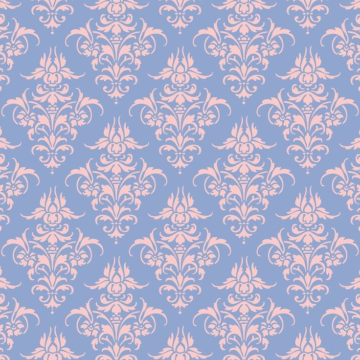 Damask Pattern Rose Quartz And Serenity Pantone Colors