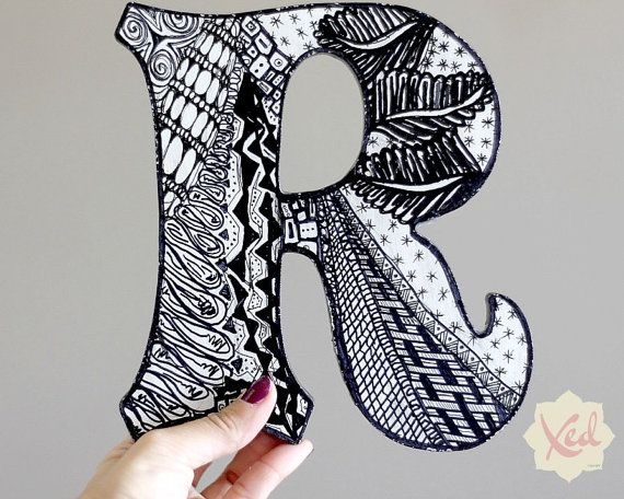 Wooden Letters - Hand Painted - Large