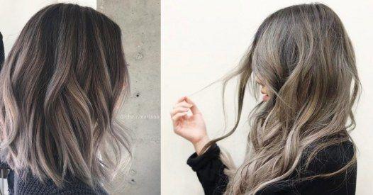 Popielaty brąz - rozświetlamy włosy szarością na lato [7 wariantów]