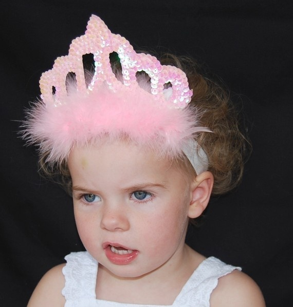 NEW boutique sequin PRINCESS headband bow. $9.99, via Etsy.