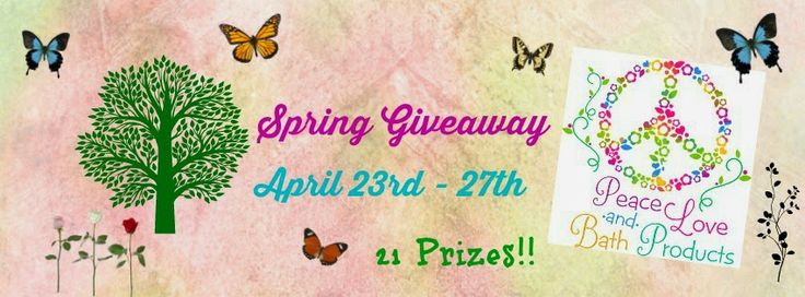 Click the picture to go enter to win 21 awesome prizes.  April 23rd - 27th
