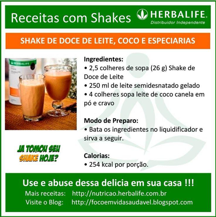 Que tal esta delícia de #shake de doce de leite com coco? Use e abuse, #herbalife ... #focoemvidasaudavel ... Info: https://www.facebook.com/silvana.costagoncales