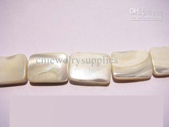 Rectangle Ablong Milk White Mother of Pearl Shell Gergous Jewelry Beads 10x14mm --2strands Online with $13.01/Piece on Cnjewelrysupplies's Store | DHgate.com