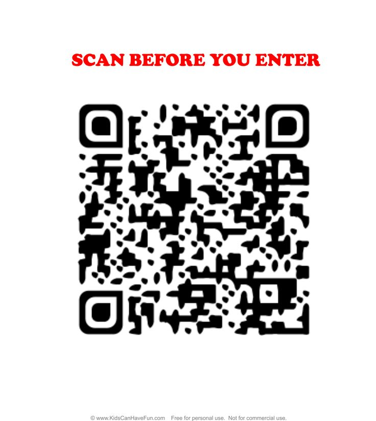 No Peanuts Allowed Scan Before You Enter QR Wall Sign http://www.kidscanhavefun.com/qr-codes-for-kids.htm #qrcode #nopeanuts #nonuts