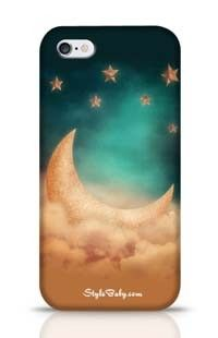 Night Time With Stars And Moon Apple iPhone 6 Phone Case
