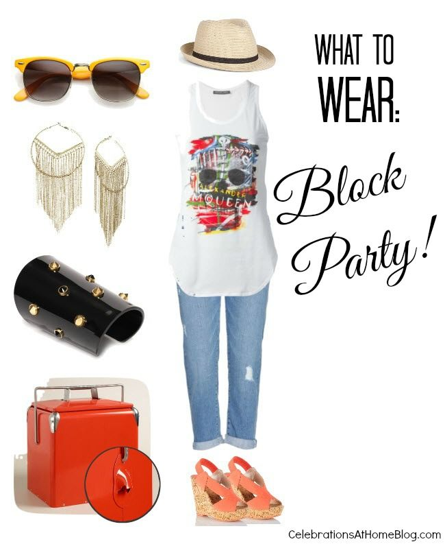 WHAT TO WEAR :: BLOCK PARTY: Parties Summerparty, Origami Owl, Amanda Closets, Block Parties, Parties Ideas