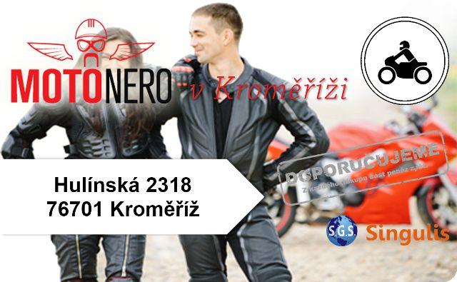 NOVÝ OBCHODNÍ PARTNER PARTNER V KROMĚŘÍŽI Seznamte se s naší nabídkou motorkářských bund a kalhot, moto kombinéz, kevlarových jeansů, rukavic na motorku, moto botů, oblečení pro volný čas, široký výběr moto přileb, chráničů, moto doplňků a dílů. http://www.singulis.cz/pages/obchodnik.aspx?cla_id=22243