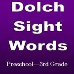 Dolch Sight Words FREE PRINTABLES Preschool Through 3rd Grade.png