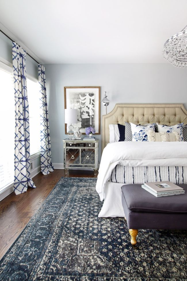 fabulous home tours blue bedroom - Blue And White Bedroom Designs