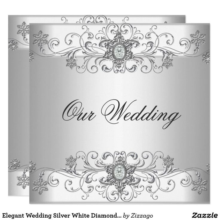 Elegant Damask Personalised 60th Silver Foil Wedding Anniversary Invitations Pack of 10