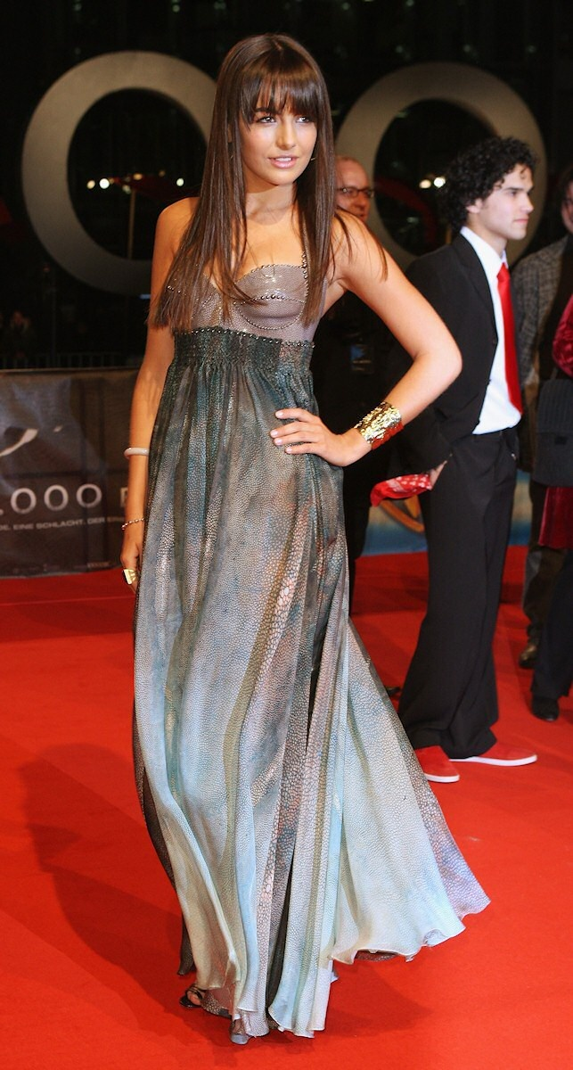 """Camilla Belle wearing Jean Paul Gaultier at the premiere of her movie """"10,000 BC"""" Berlin feb 26th 2008......"""