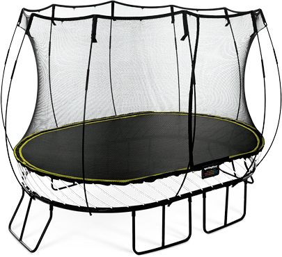 Trampoline looks fun and safe with no springs.
