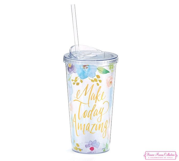 Floral Inspirations Acrylic Travel Cups