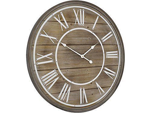 details about hemsby oversized wall clock natural 80cm