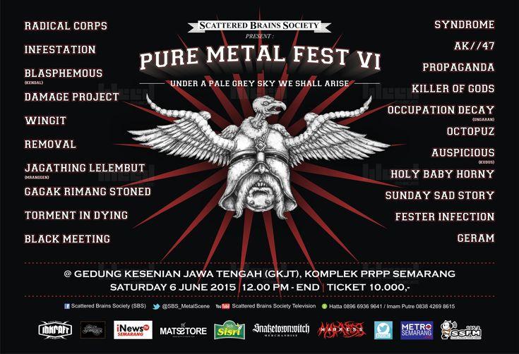 Flyer design for PURE METAL FEST VI © 2015 @bleedsyndicate