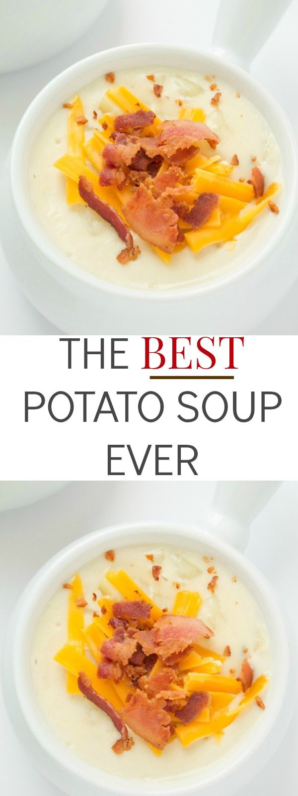 The really is the best potato soup ever recipe! You can have dinner ready and served in 20 minutes! A family-favorite.