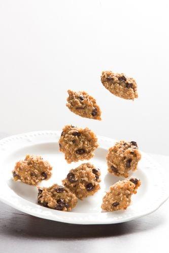 No sugar - Banana and chocolate oatmeal cookies