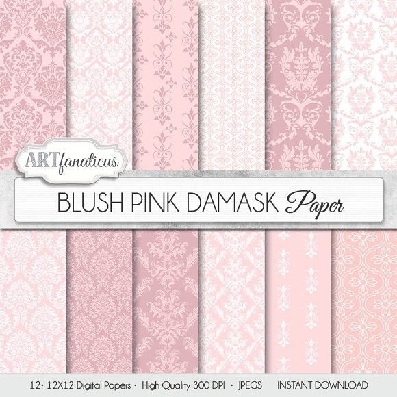 BLUSH PINK DAMASK. Patterns