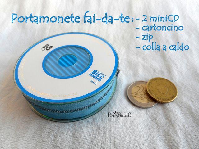 decoriciclo: Portamonete fatto con i CD + Un regalo molto ispirante