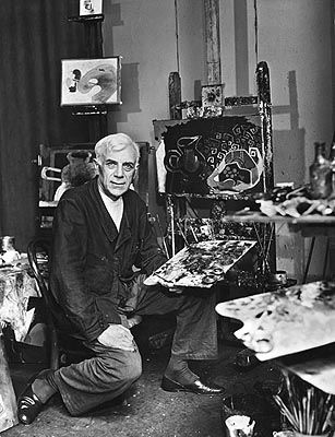 George Braque: Major 20th-century French Painter & Sculptor who, along w/ Pablo Picasso, developed art style known as Cubism. (13 May 1882,  Argenteuil, Val-d'Oise. -  Aug 31, 1963, Paris)