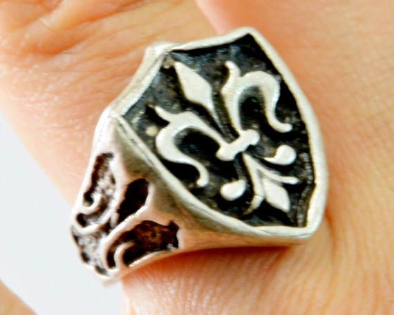 Flag Ring, Heraldry Symbols Ring, Ancient Shield Ring, Modern And Medieval Symbols, Knight Ring, Old Symbol British Old Flag Rings ru30