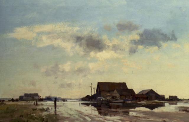 The Flooded Roof :: Edward Seago - Rural houses